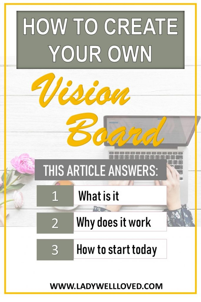 How to create a vision board. What is a vision board. Creative visualization.