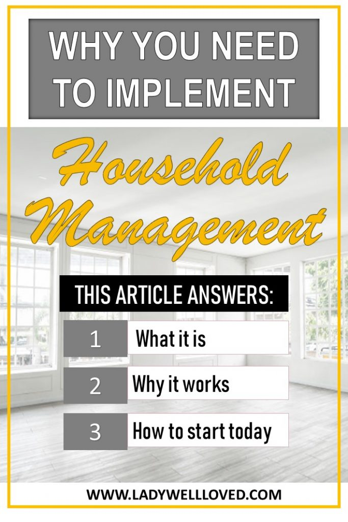 Household management. Organize your home. Destress your family.