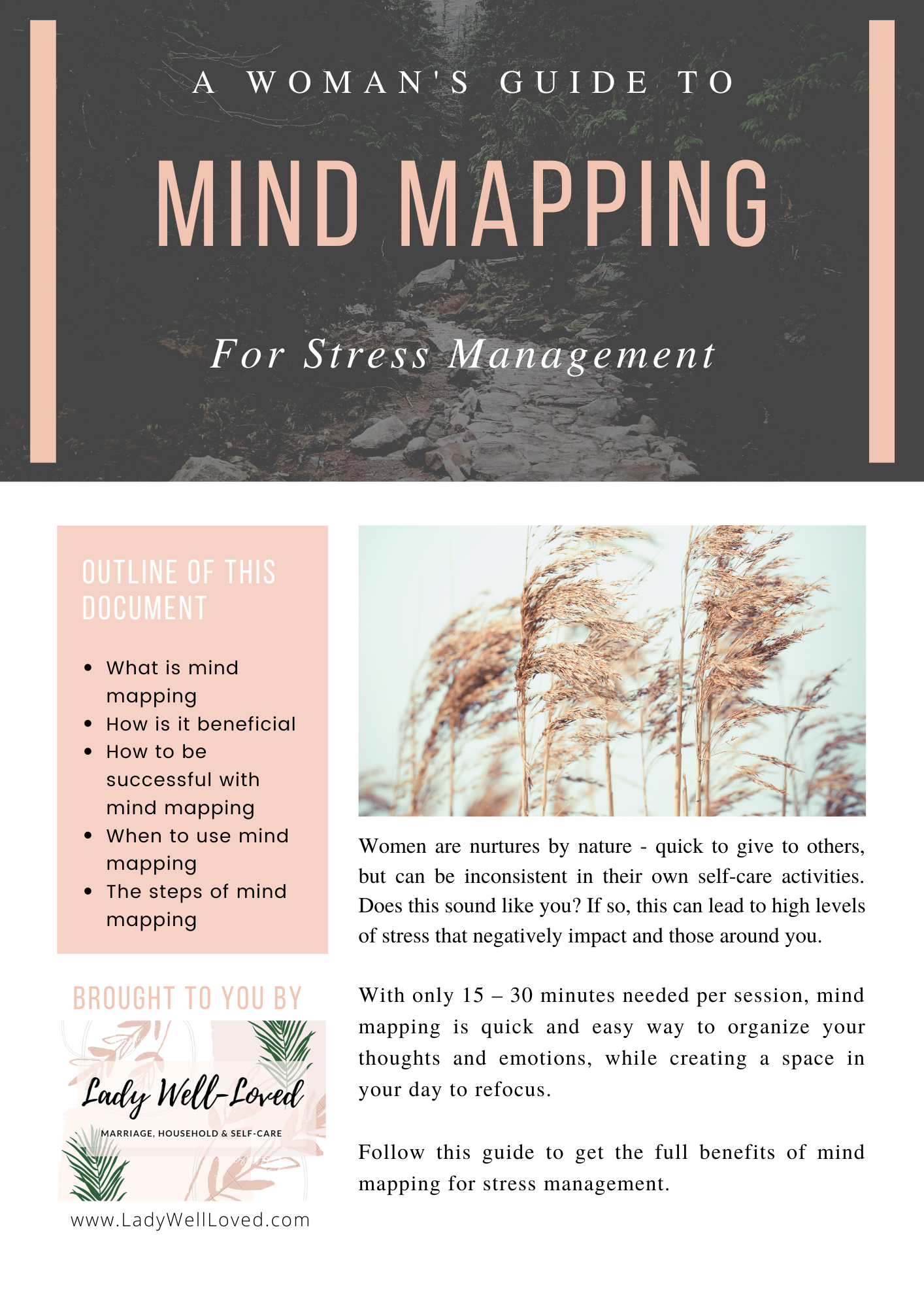 mind mapping, stress, stress management